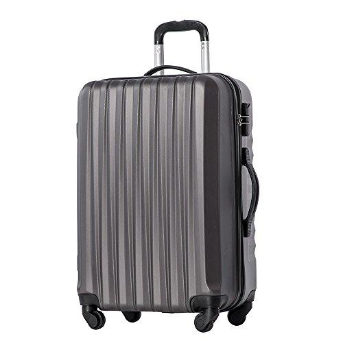 【タノビ】 TANOBIスーツケース キャリーケース キャリーバッグ 超軽量 旅行箱 国内・国際線機内持込可 (S, グレー)