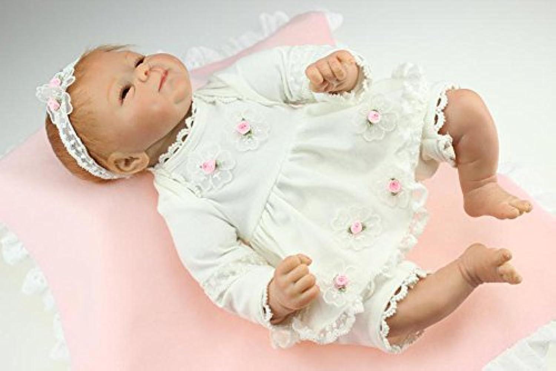 SanyDoll Rebornベビー人形ソフトSiliconeビニール18インチ45 cm Lovely Lifelikeキュート赤ちゃん男の子女の子おもちゃホワイトプリンセスドレス人形