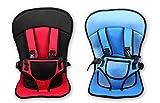 「レッド&ブラック」チャイルドシールド 持ち運びに便利 簡単 脱着 チャイルドシート 子供 保護 簡易型 座席 どこでもチェアシート ベビーチェア