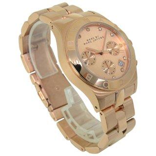 [マークバイ マークジェイコブス]MARC BY MARC JACOBS マークバイマークジェイコブス 時計 MBM3102 ブレード クロノ ピンクゴールド 12ポイント クリスタル レディース ユニセックス 男女兼用腕時計 [並行輸入品]