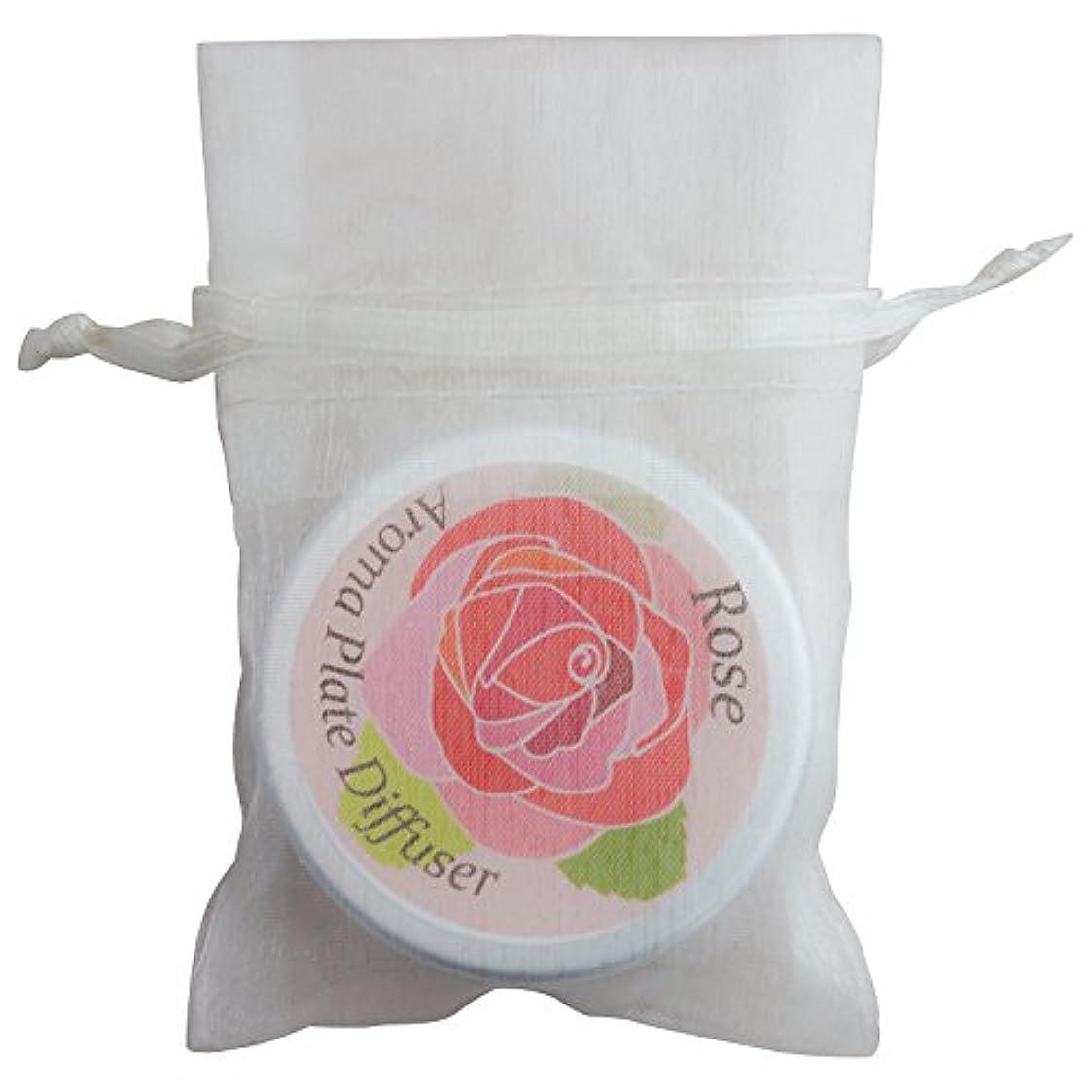 渦借りる七面鳥アロマラボ 伊万里製 アロマプレート(ローズデザイン) アルミ缶入 オーガンジー袋つき