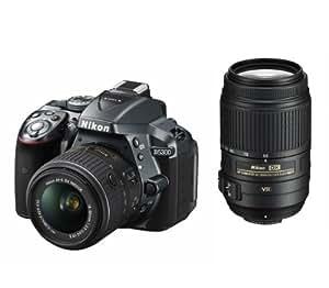 Nikon デジタル一眼レフカメラ D5300 ダブルズームキット グレー 2400万画素 3.2型液晶 D5300WZGY