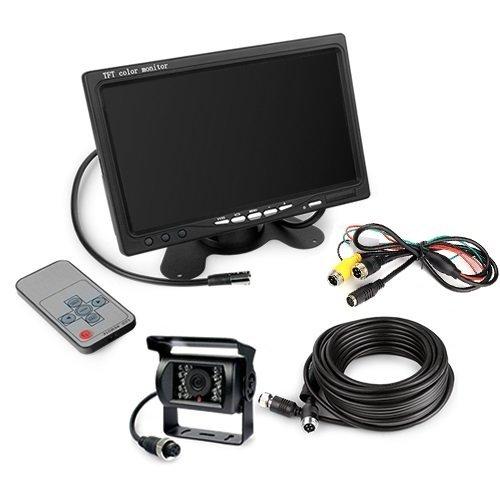 7インチモニター+バックカメラセット PRO 12V/24V兼用 バックLEDカメラセット+一体型 ...