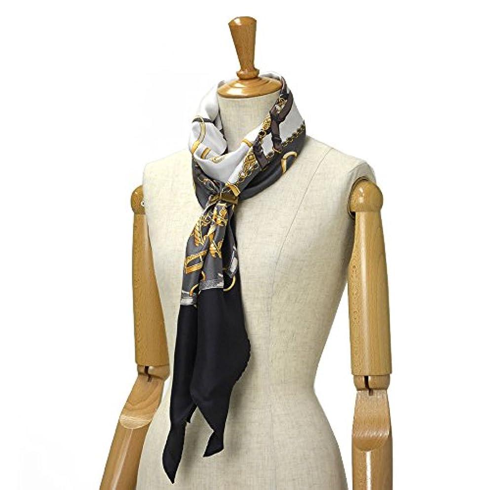 商業の硬化する用量Altea【アルテア】ひし形ベルト柄スカーフ 1760517 01 シルク ブラック