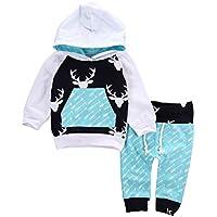Aliven Baby Boys' Deer Long Sleeve Hoodie Tops Sweatsuit Pants Outfit Set