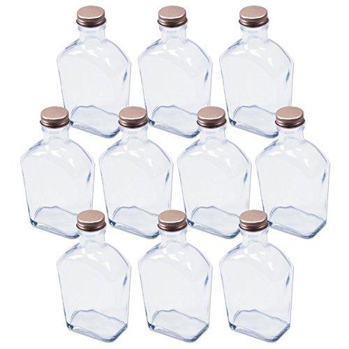 日本製 ハーバリウム 角スキットル型 ガラス瓶 200cc 10本セット