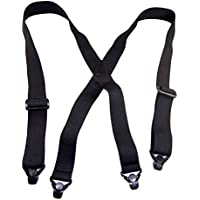 Hold-Up No-buzz Airport Friendly Black Suspender in X-Back with Patented Gripper Clasps