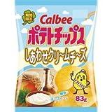 【販路限定品】カルビー ポテトチップス しあわせクリ?ムチ?ズ 83g×12袋