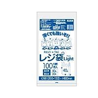 サンキョウプラテック レジ袋 ライト 西日本40号/東日本30号 半透明 100枚入×40冊 RHK-40