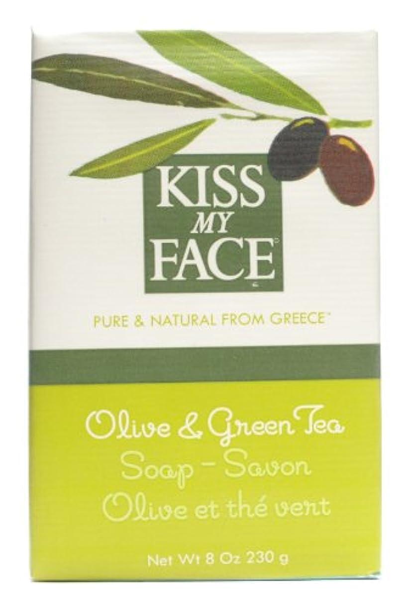 潜在的な有効なわずかなKiss My Face ソープバーオリーブ&Grnとお茶