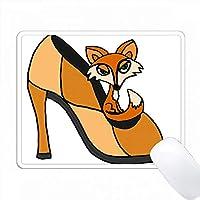 ハイヒール靴の芸術的なフォックスレッドフォックス PC Mouse Pad パソコン マウスパッド