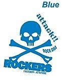 貼るだけでかっこいい ドクロ スカル ROCKERS 青 カッティングステッカー