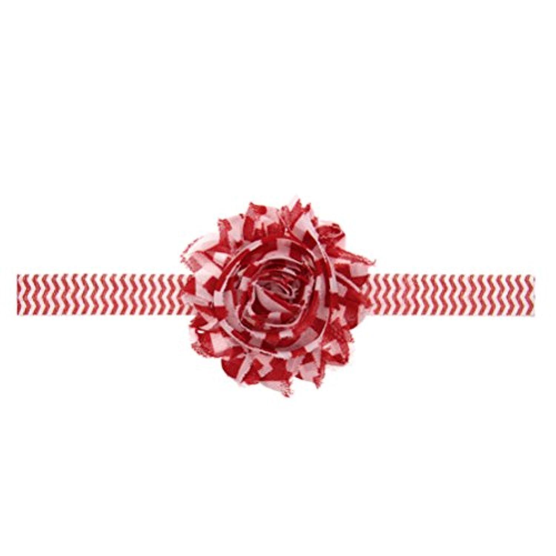 Zhhlinyuan ベビー小物 Baby Girls ヘアアクセサリ Toddler Kids Christmas/Photography Pops/Costume/Party Stretch Chiffon Flower Headband Hairband