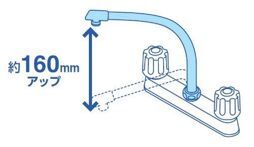 三栄水栓 断熱腰高パイプ 直径16mm PA232D-61X2-16