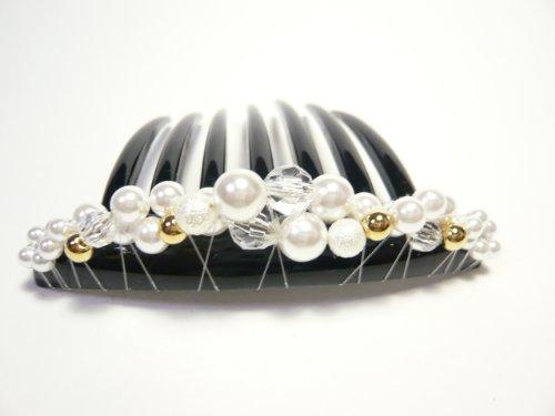 [해외]3 색 썩지 쉽게 헤어 어레인지 초보자에게 추천 일제 진주 트위스트 심플한 디자인 야회 감기 빗 A-59/3 colors Rakuchin Easy Hair Arrange Recommended for beginners Made in Japan Pearl Twist Simple Design Ball Gear Wound Comb A-59