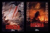 2014年1作目チラシ2種「GODZILLA ゴジラ」アメリカ版 アーロンテイラー=ジョンソン/渡辺謙