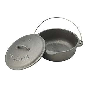 キャプテンスタッグ ダッチオーブン M-5503 20cm 容量1.7L 鋳鉄製 ふた付き
