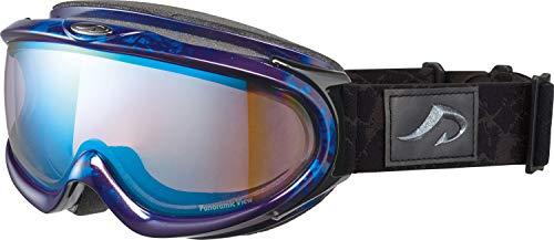 AXE(アックス) スキー メンズ ゴーグル ヘルメット対応・メガネ対応・ダブルレンズ・ノーズフィット・UVプロテクション マーブルブルー AX888SBU