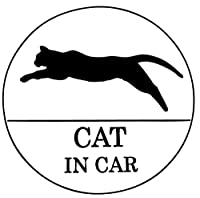 CAT IN CAR  防水・車両OKカッティングステッカー SKT782-CICB