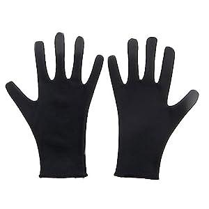 撥水スケート用手袋 大人Sサイズ 黒