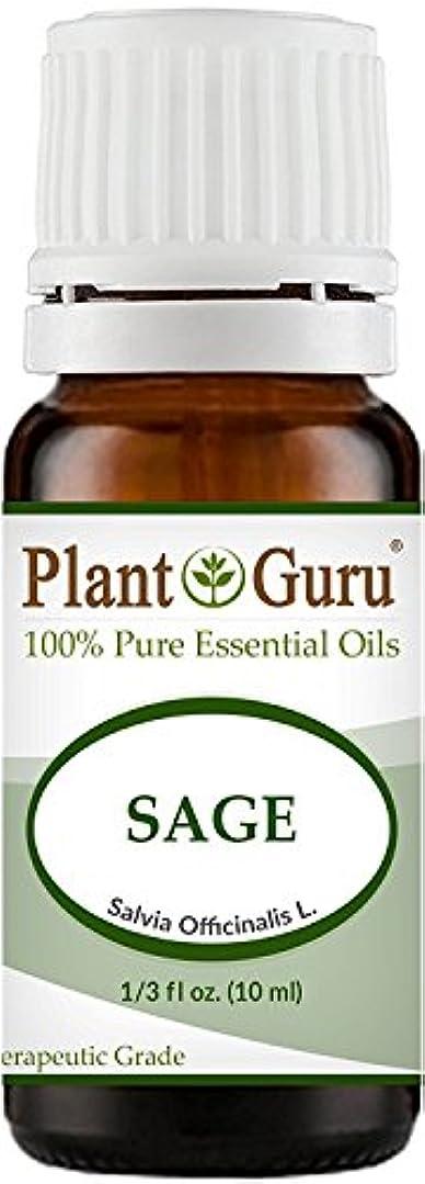 ジョリー依存タンカーSage Essential Oil (Austria) 10 ml. 100% Pure, Undiluted, Therapeutic Grade. by Plant Guru