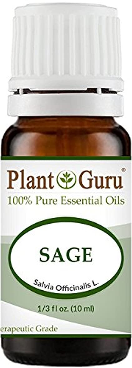 教鍔知り合いになるSage Essential Oil (Austria) 10 ml. 100% Pure, Undiluted, Therapeutic Grade. by Plant Guru