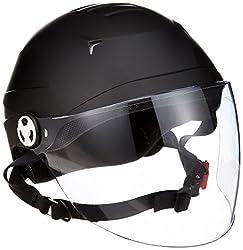 リード工業 バイクヘルメット ハーフ シールド付 マットブラック LLサイズ 61~62cm未満 RE41