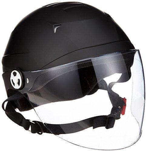 LEAD バイクヘルメット マットブラック RE41 B00LAQ76R8 1枚目
