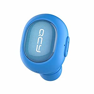 QCY Q26 Bluetooth 4.1 イヤホン スポーツ仕様 ワイヤレス 片耳 ミニ型 ブルー
