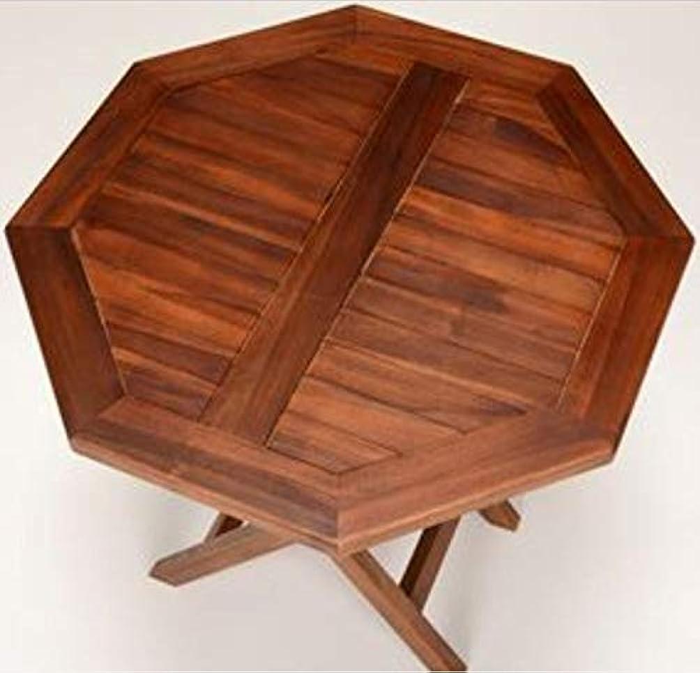 鰐出席胴体弁天インテリア ガーデンテーブル アウトドアテーブル 天然チーク材使用 折りたたみ式 幅70cm