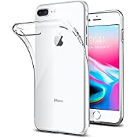 【Spigen】 スマホケース iPhone8 Plus ケース / iPhone7 Plus ケース 対応 TPU 米軍MIL規格取得 耐衝撃 リキッド・クリスタル 043CS20479 (クリスタル ・クリア)