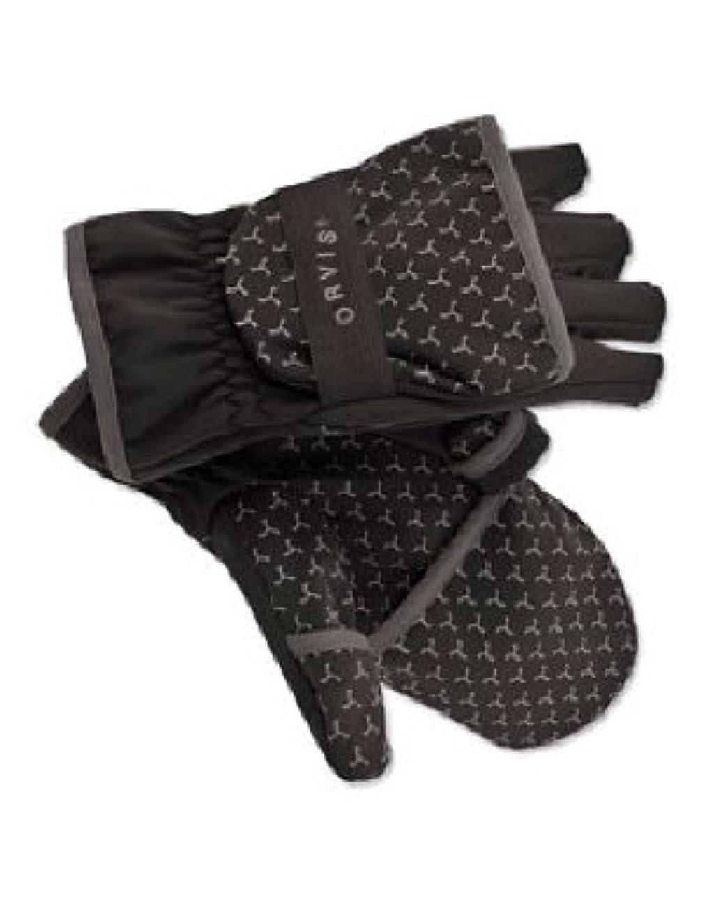ガチョウ段階適切にオービスソフトシェルFoldover指なし手袋:サイズSmall