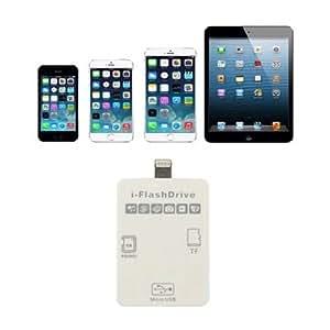 [PCATEC] [iOS9対応] 新型iPad air2/air/iPadmini1/2/3/iPhone6/6plus/5/5C/5S ios9 Lightning全対応 Lightning to i-FlashDrive Mirco SD/SDカードリーダー【ご利用されるMirco SD/SDカードの容量が4GB〜32GBのもので、お勧め致します。】