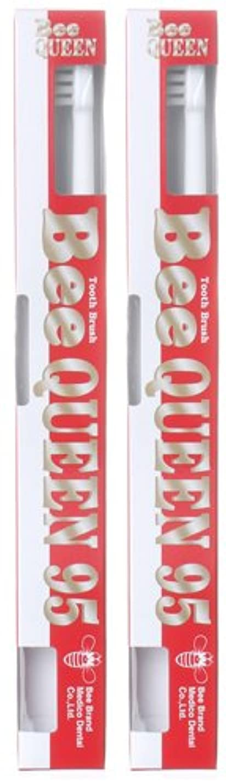 可決怪物デモンストレーションBeeBrand Dr.BEE 歯ブラシ クイーン95 ふつう 2本セット