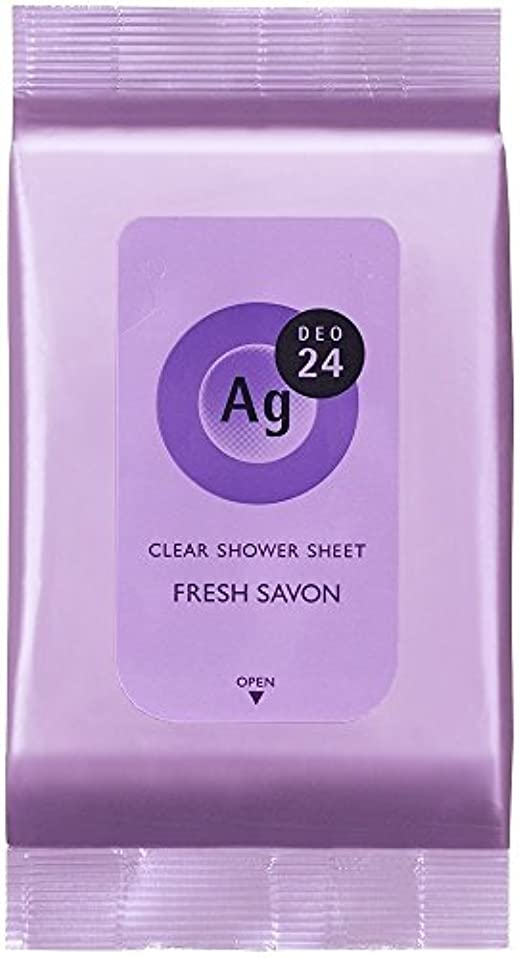 高さバスト著名なエージーデオ24 クリアシャワーシート フレッシュサボンの香り 40枚