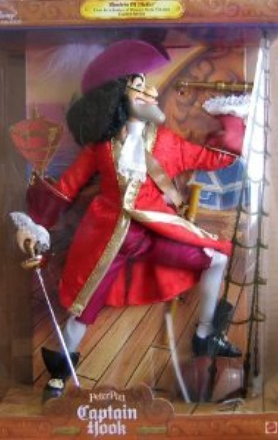 Disney's (ディズニー) Captain Hook Masters of Malice doll from Peter Pan ドール 人形 フィギュア(並行輸入)