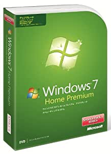 Microsoft Windows 7 Home Premium アップグレード版 Service Pack 1 適用済み