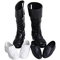 Myofficeドール用 人形用 3ペア靴 ブーツ シューズ  プラスチック製の人形3ペアロイヤルプリンセス人形の靴
