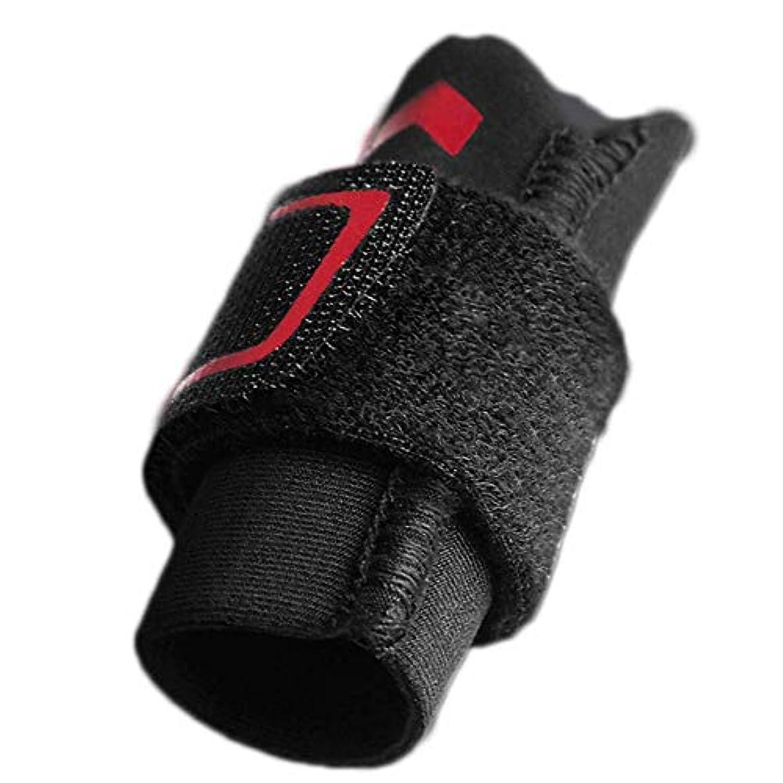 思い出させる抹消酸指の損傷のサポート、指スリーブのサポートプロテクターの指の添え木、調整可能なベルクロ、関節痛の緩和,L