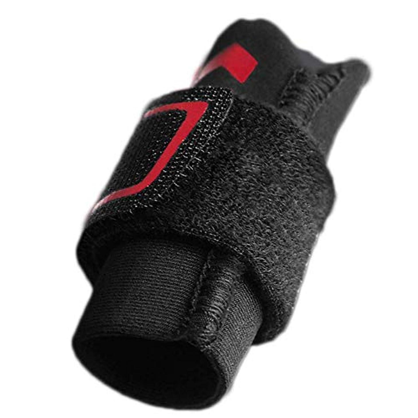 怠ルビー保険指の損傷のサポート、指スリーブのサポートプロテクターの指の添え木、調整可能なベルクロ、関節痛の緩和,L
