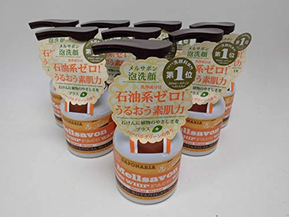石前進食器棚【8個セット】メルサボン 泡洗顔料 ハーバルグリーン(定価690円) 150ml×8個セット