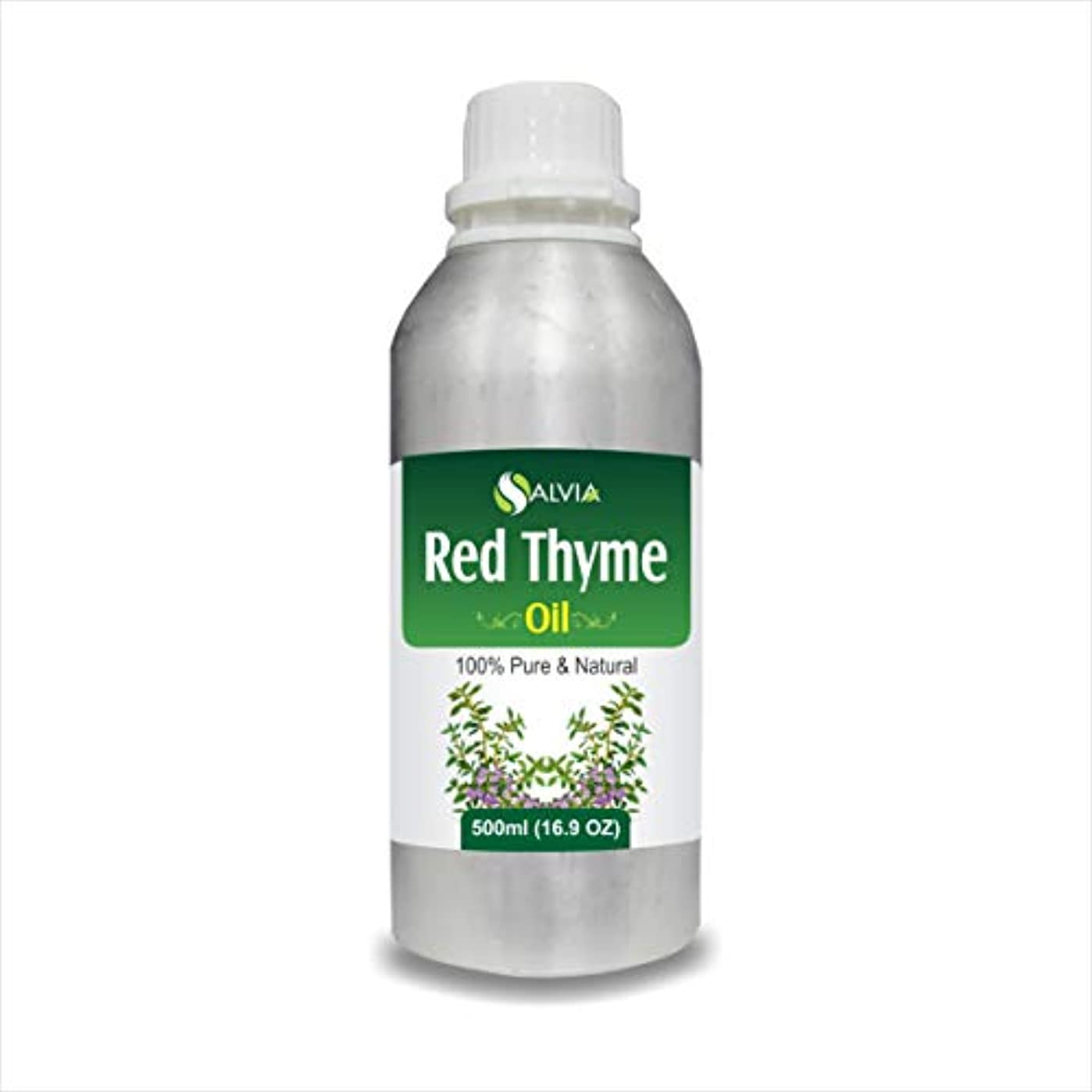 経度経度知性RED Thyme Oil (Thymus VULGARIS) 100% Natural Pure Essential Oil (500ml)