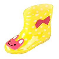 Zhhlinyuan レインブーツ Kids Boys Girls Ultralight Waterproof Rubber Rain Boots Multicolor