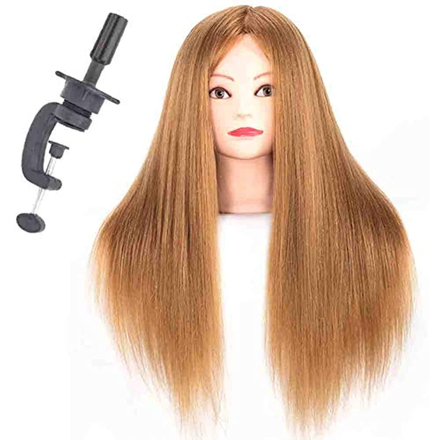 協力的回復スティーブンソン85%ミックスリアルヘアトレーニングヘッド花嫁ヘア三つ編みヘアサロンヘアカットカーリングロッド形状モデルダミーヘッド