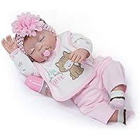 NPKDOLL Rebornベビー人形高ビニル22インチ55 cm Lifelike鮮やかな防水少年少女おもちゃrd55z029gc