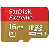 SanDisk microSDHC Extreme 90MB/s 16GB U3 SDSQXNE-016G Class10 SD変換アダプター付属 サンディスク 海外パッケージ品 [並行輸入品]