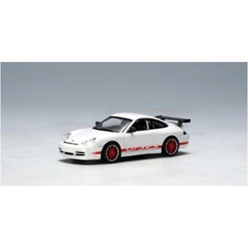 AUTOart 1/64 ポルシェ 911 (996) '04 GT3 RS (ホワイト・レッドストライプ) 完成品