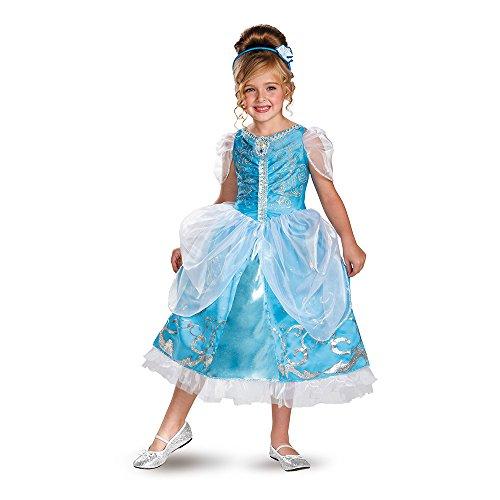 Disney Cinderella Deluxe Sparkle Toddler/Child Costume ディズニーシンデレラデラックススパークルの幼児/子供の衣装♪ハロウィン♪サイズ:Small (4-6x)