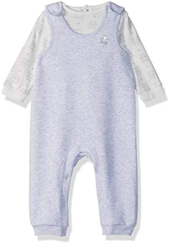 Little Me Baby-Girls Unisex-Baby Overall Set Layette Set - Gray - 9 Months