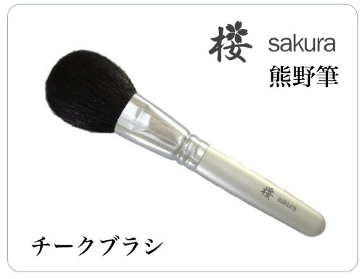 銃聖なるロボット熊野筆(チークブラシ) メイクブラシ 桜シリーズ